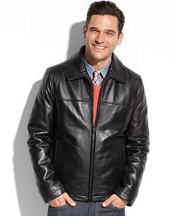 Smooth Lamb Leather Jacket by Tommy Hilfiger in Safe House
