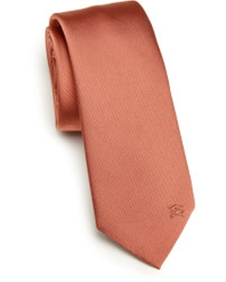 Solid Silk Tie by Burberry London in Valentine's Day
