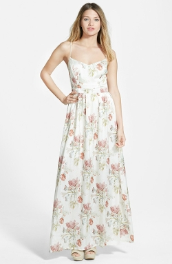 Spaghetti Strap Floral Maxi Dress by Filtre in Sinister 2