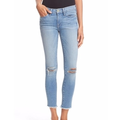 'Le Skinny de Jeanne' Crop Raw Edge Jeans by Frame in Pretty Little Liars