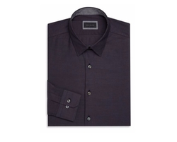 Modern-Fit Cotton Dress Shirt by Pal Zileri in Empire