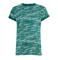 Roller Fit Green Splatter T-Shirt by Topman in New Girl