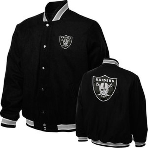 Oakland Raiders Black Contender Wool Jacket by G-III Sports in Straight Outta Compton