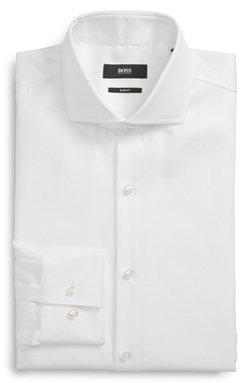 'Jason' Slim Fit Solid Dress Shirt by Hugo Boss in Confessions of a Shopaholic