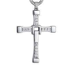 Cross Pendant Neklace by Yumily in The Fate of the Furious