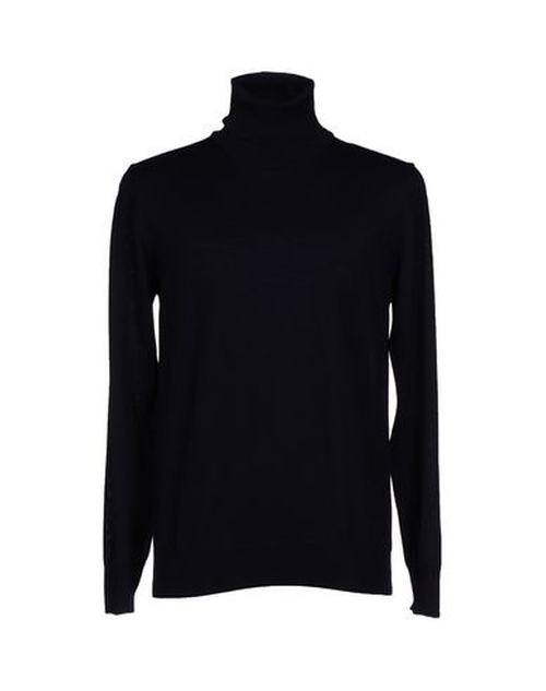 Turtleneck Lightweight Sweater by Andrea Fenzi in Black Mass