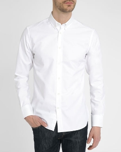 White Oxford Embroidered Shirt by Maison Kitsuné in Star Wars: The Force Awakens