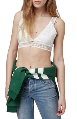 Mesh Trim Bralette by Top Shop in The Flash