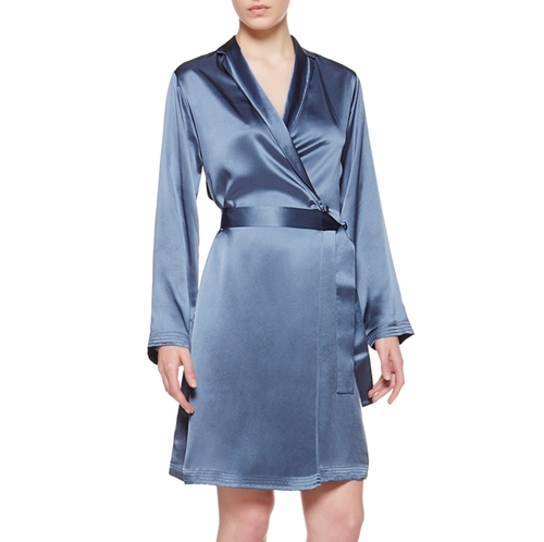 Silk Short Robe by La Perla in The Boss