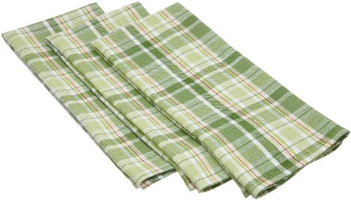 Green Garden Plaid Heavy Weight Essentials Dishtowel by DII in Ride Along