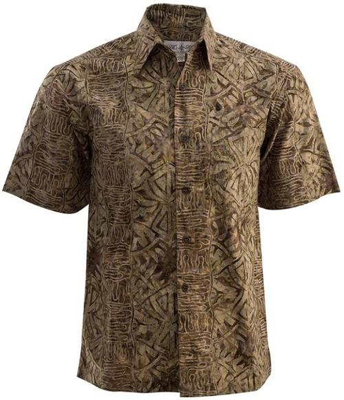 Geometric Shadow Tropical Cotton Shirt by Johari West in Love & Mercy