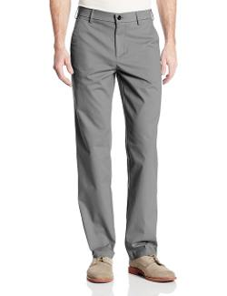 Performance Cotton Slack Straight-Fit Plain-Front Pant by Haggar in The Judge