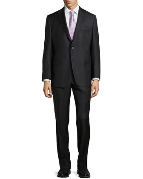 Pinstripe Two-Piece Suit by Hickey Freeman in Southpaw