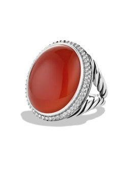 DY Signature Oval Ring by David Yurman in Crimson Peak