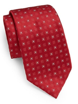 Square-Print Silk Tie by Valentino in Bridge of Spies