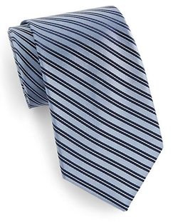 Striped Silk Tie by Saks Fifth Avenue in Suits