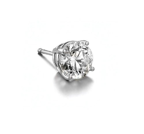 Diamond Single Stud Earring by Queen Jewelers in Entourage