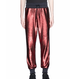 'Hiersche' Sequin Front Jogging Pants by Dries Van Noten in Empire