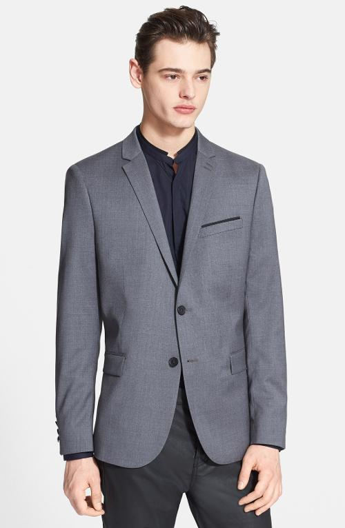 Adjusted Fit Grey Wool Sportcoat by The Kooples in Jersey Boys