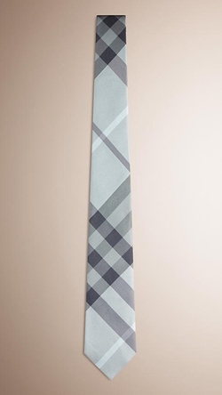 Modern Cut Check Silk Tie by Burberry in Wedding Crashers