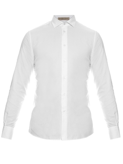 Napoli Button-Cuff Cotton Shirt by Bottega Veneta in Demolition
