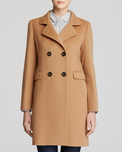 Double Breasted Wool & Cashmere Coat by Cinzia Rocca in Elementary