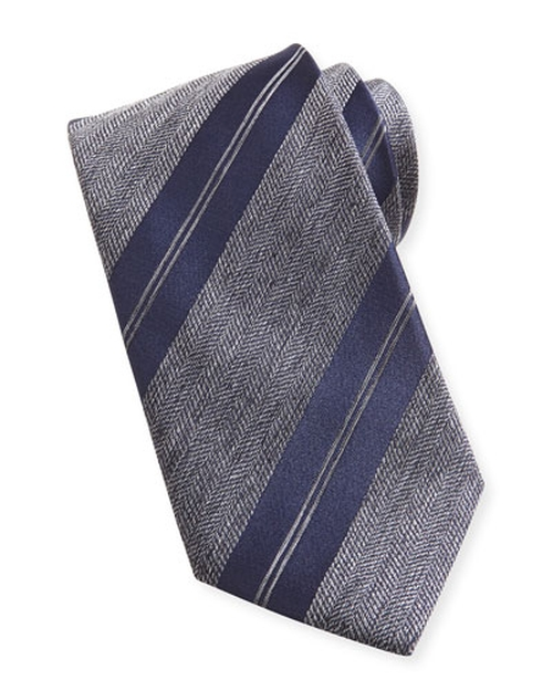 Striped Herringbone Tie by Brioni	 in Suits - Season 5 Episode 4