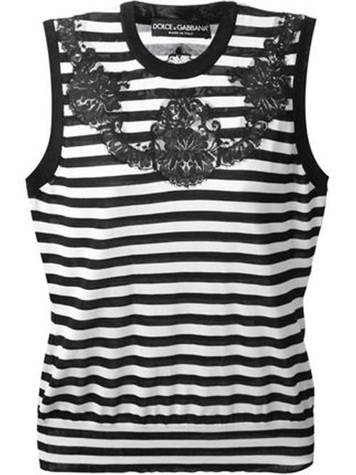 Striped Tank Top by Dolce & Gabbana in The Mindy Project