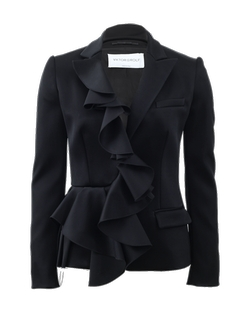 Ruffle Front Blazer by Viktor & Rolf in Suits