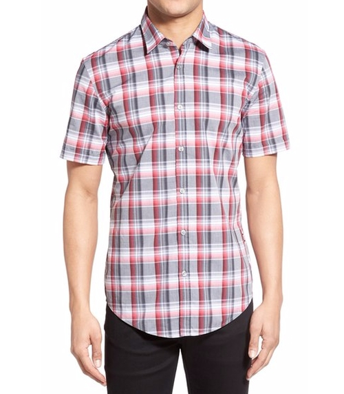 'Ronn' Slim Fit Plaid Sport Shirt by Boss in Love, Rosie