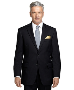 Madison Fit Black Shadow Stripe 1818 Suit by Brooks Brothers in The Blacklist