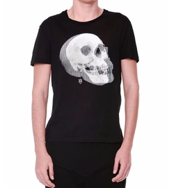 Optic Skull-Printed Short-Sleeve T-Shirt by Alexander McQueen  in Justice League