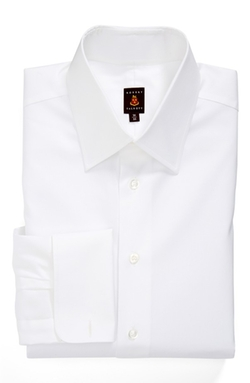 Classic Fit Solid French Cuff Dress Shirt by Robert Talbott in Black Mass