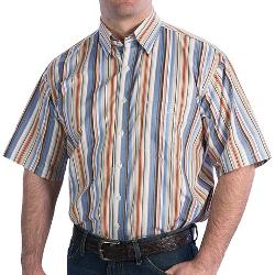 RB Stripe Short Sleeve Shirt by Resistol Ranch in Couple's Retreat