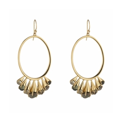 Arrayed Stone Wire Earrings by Alexis Bittar in A Bad Moms Christmas