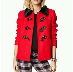 Wool Short Swing Toggle Coat by Juicy Couture in New Girl