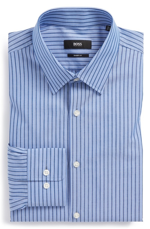 Sharp Fit Stripe Dress Shirt by Boss Hugo Boss in The Longest Ride