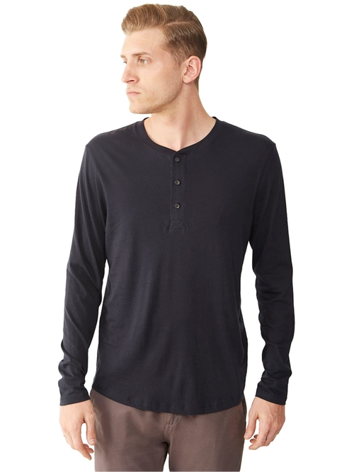 Organic Pima Henley Shirt by Organic in She's Funny That Way