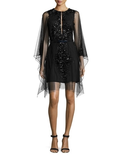 Moroccan Jeweled Mesh Dress by Kaufman Franco in The Mindy Project