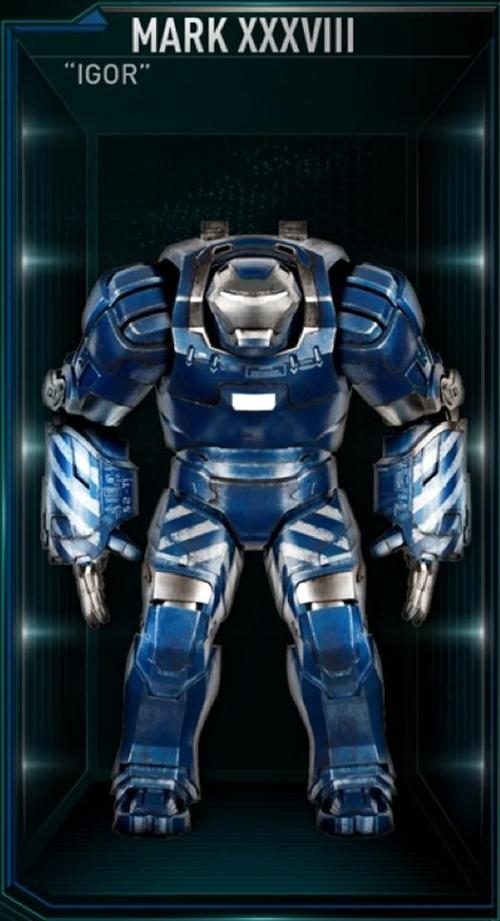 "Iron Man Mark 38 ""Igor"" by Ryan Meinerding (Concept Artist) in Iron Man 3"