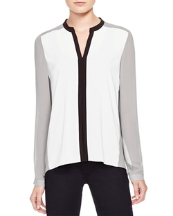 XNolan Color Block Blouse by T Tahari in Supergirl