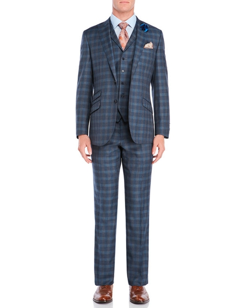 Plaid Three-Piece Suit by English Laundry in Ballers - Season 2 Episode 8