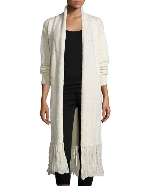 Fringe Trim Sparrow Long Cardigan by Line in The Bachelorette - Season 12 Episode 5