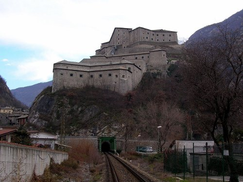 Fort Bard Aosta Valley, Italy in Avengers: Age of Ultron