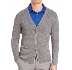 Lincoln Cotton & Linen Cardigan by Saks Fifth Avenue Collection in The Good Place