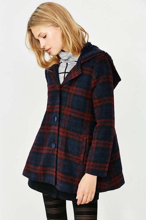Kellen Plaid Sherpa-Hood Jacket by BB Dakota in Unbreakable Kimmy Schmidt - Season 3 Episode 9