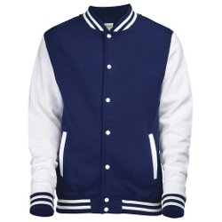 Varsity Letterman jacket by AWDis Hoods in The Best of Me