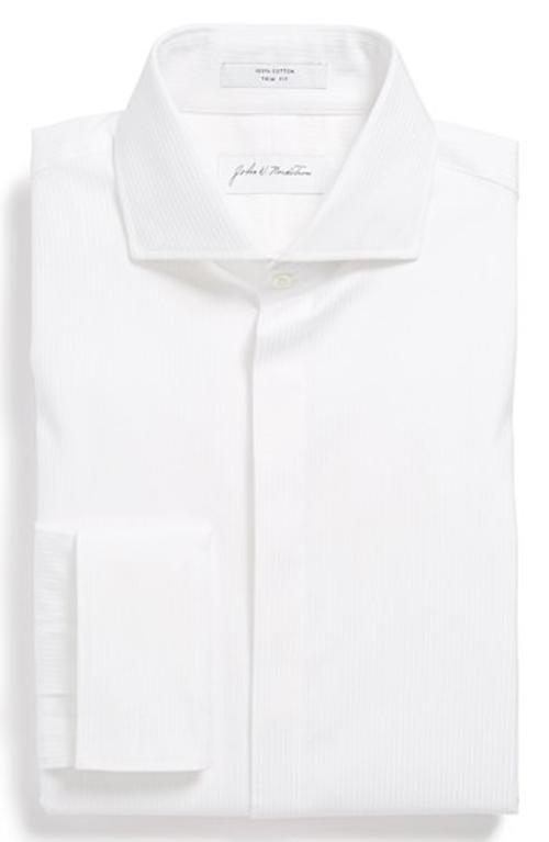 Trim Fit Tuxedo Shirt by John W. Nordstrom in About Last Night