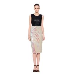 Sequin Embellished Pencil Skirt by Essentiel Antwerp in Scream Queens