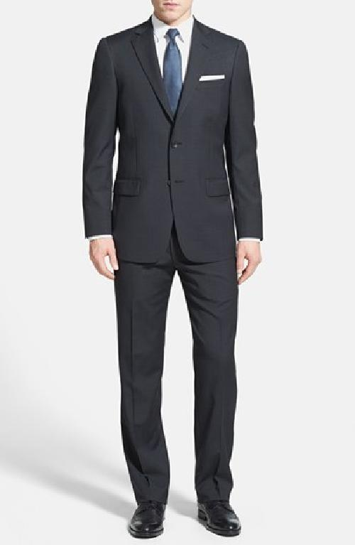 'New York' Classic Fit Wool Suit by Hart Schaffner Marx in Blended
